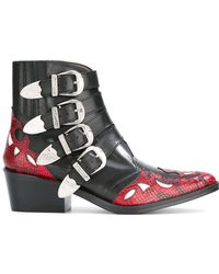 Toga Pulla - Western Buckle Ankle Boots - Lyst