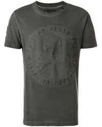 Philipp Plein - Skull And Crossbones Motif T-shirt - Lyst