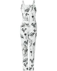 Andrea Marques - Floral Jumpsuit - Lyst