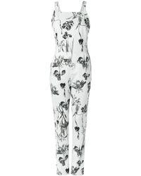 Andrea Marques - Floral Jumpsuit - Lyst
