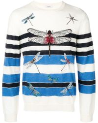 Valentino - Dragonfly Embroidered Jumper - Lyst