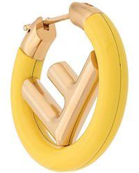 Fendi - Mono Logo Earring - Lyst