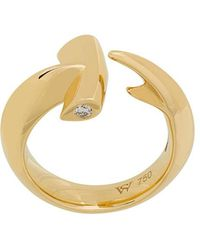 Stephen Webster | 18kt Yellow Gold Hammerhead Diamond Ring | Lyst