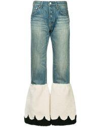 Tu Es Mon Tresor - Contrast Flared Jeans - Lyst