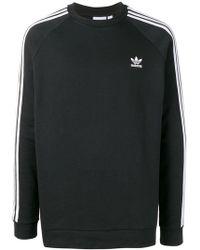adidas - 3-stripes Crewneck Sweatshirt - Lyst