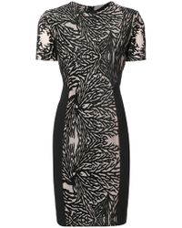 Yigal Azrouël - Coral Reef Burnout Sheath Dress - Lyst