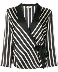 Liu Jo - Striped Print Fitted Jacket - Lyst