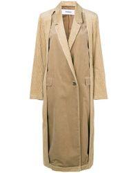 Chalayan - Cut-away Corduroy Coat - Lyst