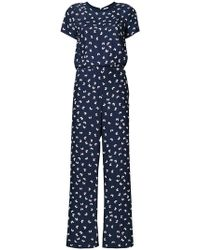 P.A.R.O.S.H. - Butterfly Print Jumpsuit - Lyst