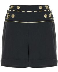 Balmain - High Waisted Mini Shorts - Lyst