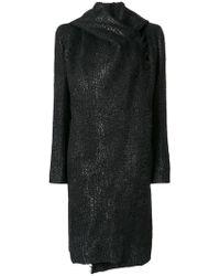 Masnada - Furry Hooded Coat - Lyst