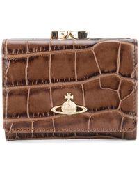 Vivienne Westwood - Croco Embossed Wallet - Lyst