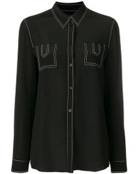 Boutique Moschino - Constrast Stitch Shirt - Lyst