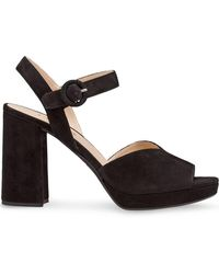 79903cfda63e6f Lyst - Gucci Knotted Platform Sandals in Black