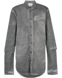 Lost and Found Rooms - Washed Double Sleeve Shirt - Lyst