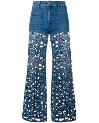 The Seafarer - Cut-design Flared Jeans - Lyst