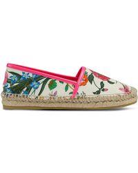 Gucci - Espadrilles mit Blumen-Print - Lyst