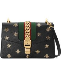 Gucci - Sylvie Bee Star Small Shoulder Bag - Lyst