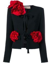 Elie Saab - Rose Appliqué Jacket - Lyst