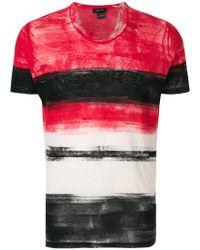 Avant Toi - Printed Stripe T-shirt - Lyst