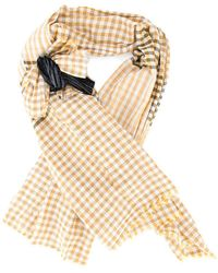 Forte Forte - Checked Bow Scarf - Lyst