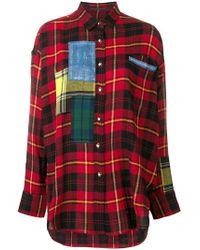 Ermanno Scervino - Plaid Oversized Shirt - Lyst