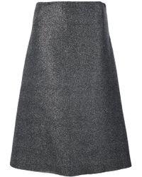 Cedric Charlier - Glitter Canvas Asymmetric Skirt - Lyst