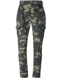 Faith Connexion - Camouflage Trousers - Lyst