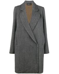 Gianluca Capannolo - Pattern Single Breasted Coat - Lyst