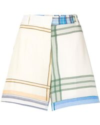 Ports 1961 - Plaid Tailored Shorts - Lyst