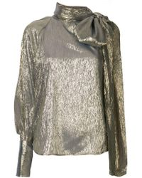 0c6425ad4ab27b Lyst - Alice + Olivia Bray Pleated Sleeve Silk-chiffon Wrap Top in Pink