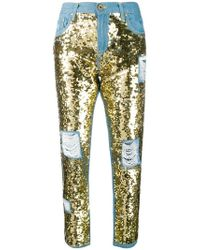 Don't Cry - Sequin Embellished Jeans - Lyst