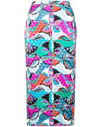 Emilio Pucci - Quilted Pencil Skirt - Lyst