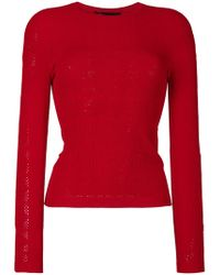 Versace   Pointelle-knit Jumper   Lyst