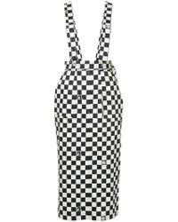 G.v.g.v - Dungaree-style Checkered Skirt - Lyst