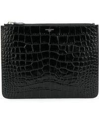 Givenchy - Cartera efecto piel de cocodrilo en relieve - Lyst