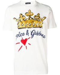 Dolce & Gabbana - T-Shirt mit Herz-Print - Lyst