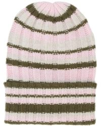 The Elder Statesman - Striped Beanie - Lyst