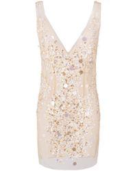 Amen | Deep V-neck Embellished Dress | Lyst