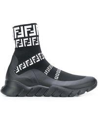 Fendi - Logo Trainer Boots - Lyst