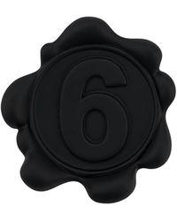MM6 by Maison Martin Margiela Брошь Mm6 - Черный