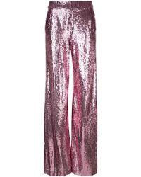 Prabal Gurung - Sequin Wide Leg Trousers - Lyst