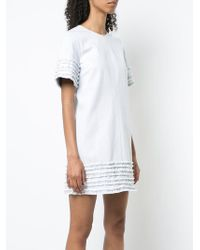 Cinq À Sept - Gathered Trim Short Dress - Lyst