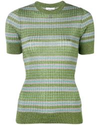 Courreges - Lamé Stripe Knitted Top - Lyst
