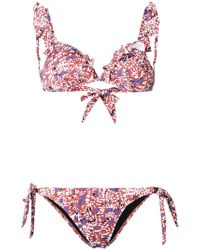 Emmanuela Swimwear - Myrto Printed Ruffle Bikini - Lyst