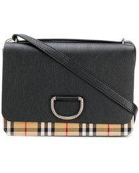 Burberry - Foldover Check Shoulder Bag - Lyst