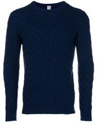 Eleventy - Round Neck Sweater - Lyst