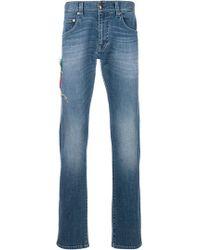 Etro - Stretch Straight Stonewashed Jeans - Lyst
