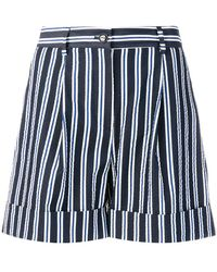 P.A.R.O.S.H. - Casual Striped Shorts - Lyst