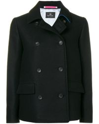 PS by Paul Smith - Short Peacoat - Lyst